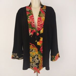 Soft Surroundings Asian Inspired Kimono Jacket XL